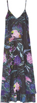 Lora Bouquet floral-print satin and silk maxi dress