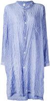 Y's striped shirt dress - women - Cotton/Polyurethane/Tencel - 1