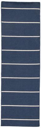 """Jaipur Living Cape Cod Handmade Stripe Blue/White Runner Rug, 2'6""""x8'"""