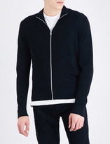 Sandro Stand-collar wool-blend cardigan