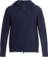 Vince Zip-through hooded cashmere-knit sweater