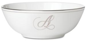 Lenox Federal Platinum Monogram Bowl, Script Letters