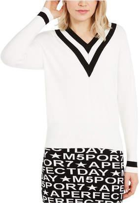 Marella Contrast-Trim V-Neck Sweater