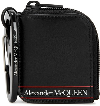 Alexander McQueen Black leather coin purse