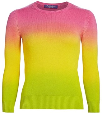 Ralph Lauren Ombre Three-Quarter Sleeve Sweater