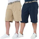 "Kangol Mens Plus King Size Mid Length Shorts Cotton Chino Pants Sizes 42"" - 54"""