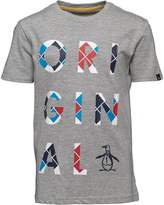 Original Penguin Junior Boys Boys Argyle Logo Jersey T-Shirt Vintage Grey Heather