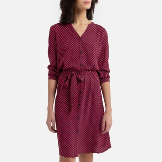 Esprit Short Dress with Long Sleeves and Belt