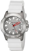 Nautica Men's NAD12528G NSR 20 Analog Display Quartz White Watch