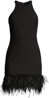 LIKELY Mora Feather-Hem Mini Dress