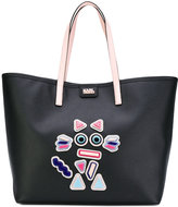 Karl Lagerfeld cat motif shopping bag - women - Leather/Acrylic/PVC - One Size