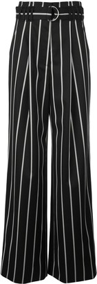 Proenza Schouler Belted Striped Pants