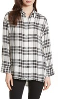 Alice + Olivia Women's Mellie Oversize Roll Cuff Shirt
