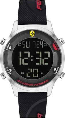 Ferrari Men's Digitrack Quartz Watch with Silicone Strap