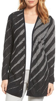 Nic+Zoe Graphic Waves Reversible Cardigan (Regular & Petite)