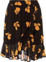 Ganni Fairfax Ruffle Mini Skirt