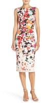 Maggy London Floral Jersey Sheath Dress