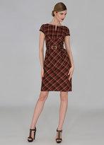 Berry Plaid Dress