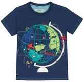 Ted Baker Boys' Navy Globe Applique T-shirt