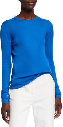 St. John Refined Cashmere/Silk Crewneck Sweater