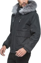 Andrew Marc Men's Imperial Genuine For Fur Trim And Shearling Lined Bomber Jacket