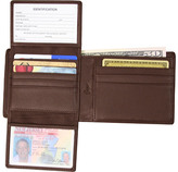 Royce Leather RFID Blocking Euro Commuter Wallet 109A-5