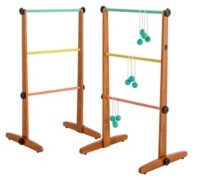 Viva Sol Premium Outdoor Ladderball Game Includes 2 Ladder Target and 6 Golf Ball Bolas