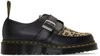 Dr. Martens Black and Tan Ramsey Monk Derbys