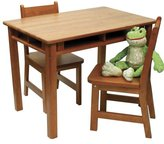 Lipper 534P Child's Rectangular Table and 2-Chair Set, Pecan