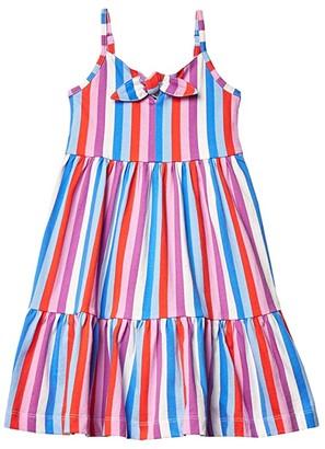 crewcuts by J.Crew Knot Front Dress (Little Kids/Big Kids) (Blue/Purple) Girl's Dress