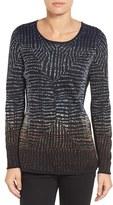 Nic+Zoe Women's Abstract Jacquard Sweater