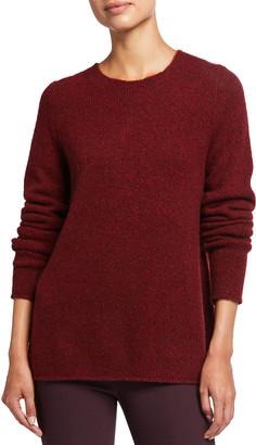 Vince Crewneck Double-Slit Donegal Sweater