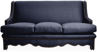 Bunny Williams Home Nailhead Sofa - Navy Linen