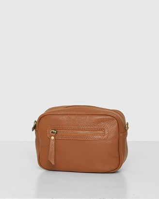 Bee Women's Brown Leather bags - The Pansy Crossbody - Size One Size at The Iconic
