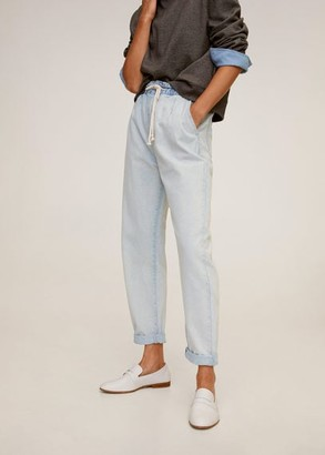 MANGO Waist straight drawstring Baggy jeans Baggy jeans