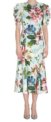 Dolce & Gabbana Cady Dress With Flower Print