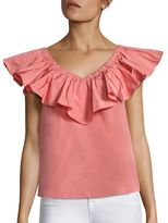Rebecca Taylor Solid Off-The-Shoulder Top