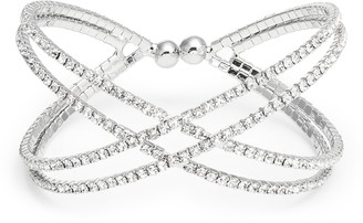 CRISTABELLE Crisscross Crystal Bracelet