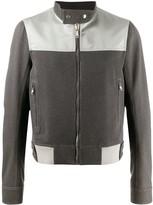 Rick Owens contrast-panel light jacket