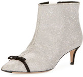 Marco De Vincenzo Crystal-Embellished Point-Toe Boot