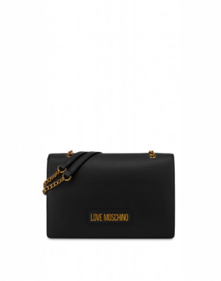 Love Moschino Shoulder Bag With Lettering Logo Woman Black Size U It - (one Size Us)
