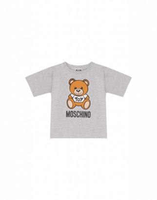 Moschino Teddy Bear Maxi T-shirt Unisex Grey Size 4a It - (4y Us)