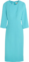 Michael Kors Stretch-wool Bouclé Dress - Light blue