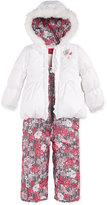 London Fog Little Girls' 2-Piece Floral Snowsuit