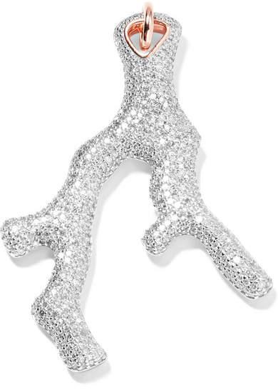 Monica Vinader Nura Rose Gold Vermeil Diamond Pendant - one size