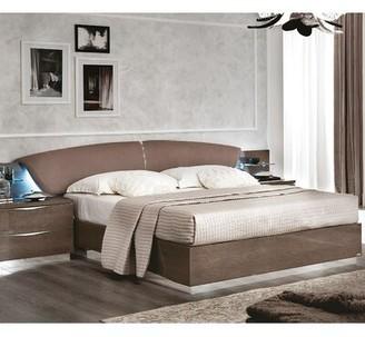 Orren Ellis Edwards Upholstered Platform Bed Color: Silver Birch, Size: King