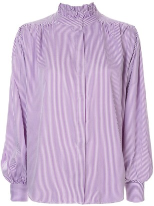 Bambah Pleated Detail Pinstripe Blouse