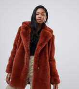 Bershka faux fur coat