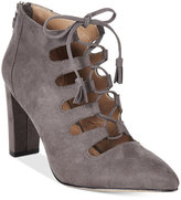 Adrienne Vittadini Neano Lace-Up Pointed-Toe Shooties