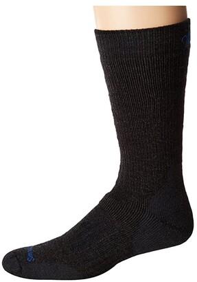 Smartwool PhD Outdoor Heavy Crew (Black) Men's Crew Cut Socks Shoes
